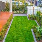 Modern Hamptons Garden Lawn Deck
